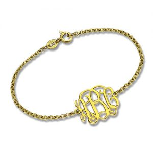 18K Gold Plated Monogram Bracelet