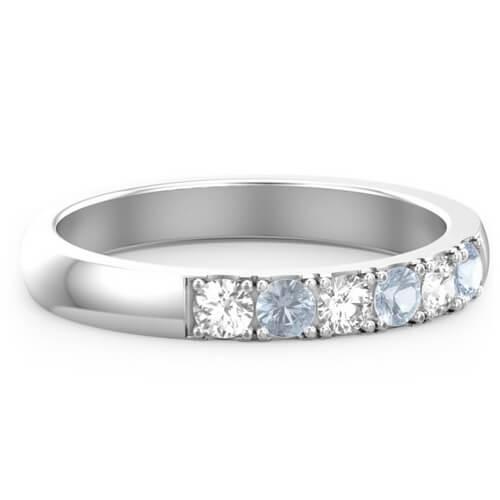 6 Stone Affinity Ring