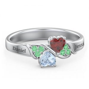 Heart of Hearts with Accent Stones Ring