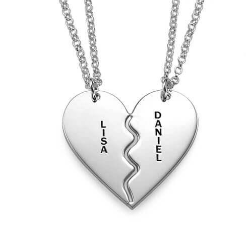 Breakable Heart Necklace Set