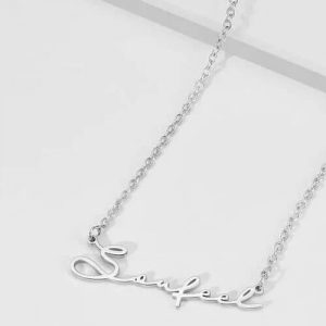 Signature Style Name Necklace Silver