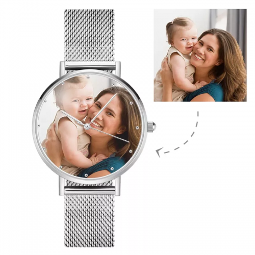 Unisex Couple Custom Photo Watch