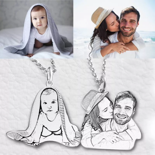 Personalized Pet Memorial Photo Necklace
