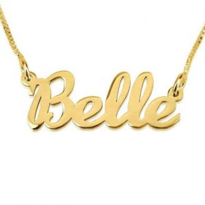Gold Plated Cursive Name Necklace