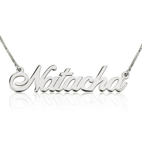 Classic Custom Name Necklace Silver