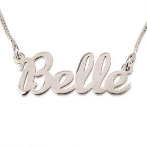 Cursive Name Necklace Silver