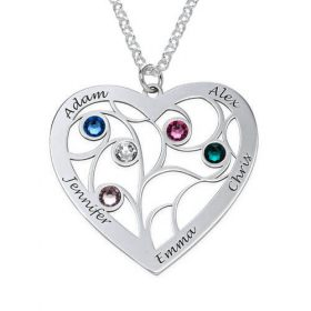 Cuore-Family-Tree-Collana-con-pietre portafortuna-in-argento-Sterling_jumbo-280 × 280