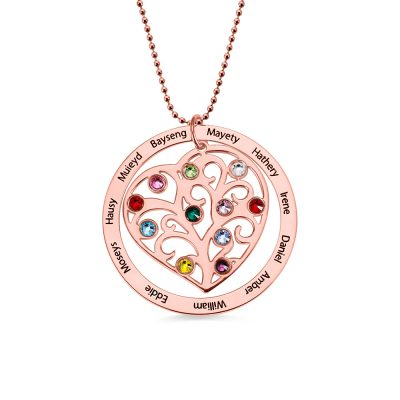18K Rose Gold Plated Silver 925 Heart