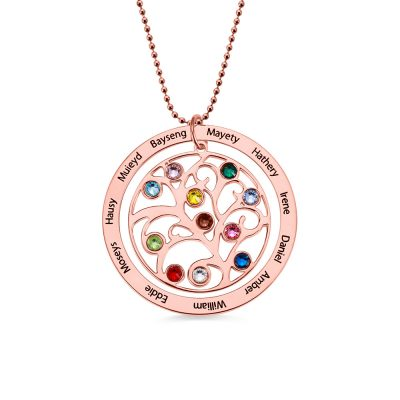 18K Rose Gold Plated Silver 925 Circle